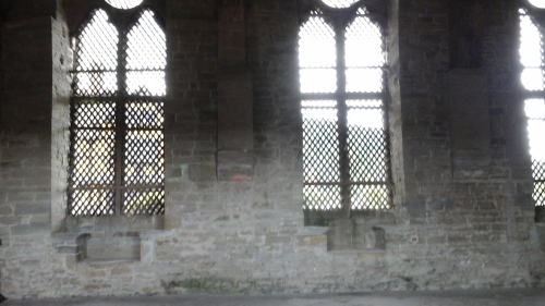 Windows of the hall, Stokesay Castle